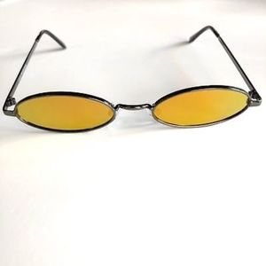 Accessories - AMBER Oval Ultra Slim Mirrored Lens Sunglasses